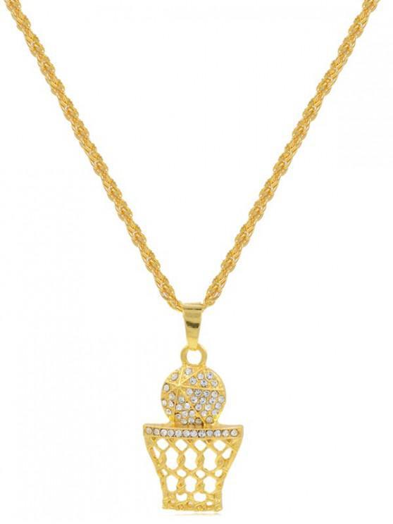 Collar de Forma de Bola de Diamantes de Imitación - Oro