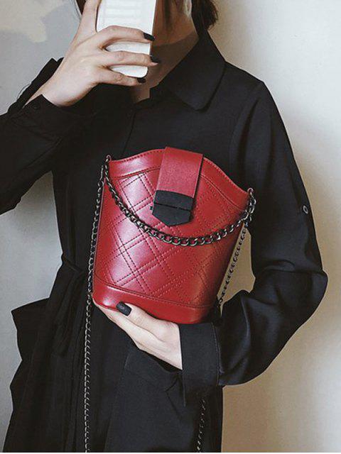 Cadeia Correia Argyle Bucket Bag Ombro - Vinho Tinto  Mobile
