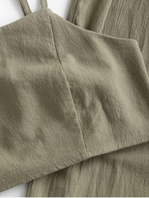 ZAFUL Zugeschnittes Gurt Papiertüte Jogger Hose Set - Tarnanstrich Grün XL Mobile