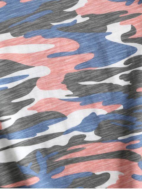 迷彩カフ付きスリーブクロップドTシャツ - マルチA L Mobile