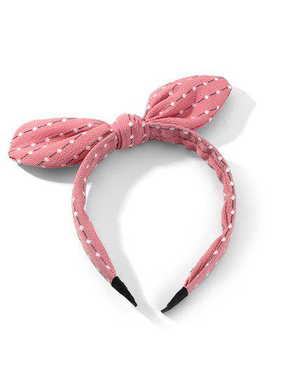 Bowknot Striped Print Hairband