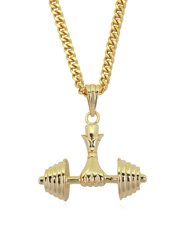 Dumbbell Shape Pendant Necklace thumbnail