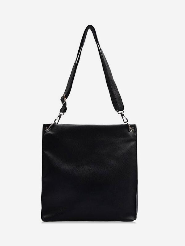 PU High Capacity Solid Shoulder Bag