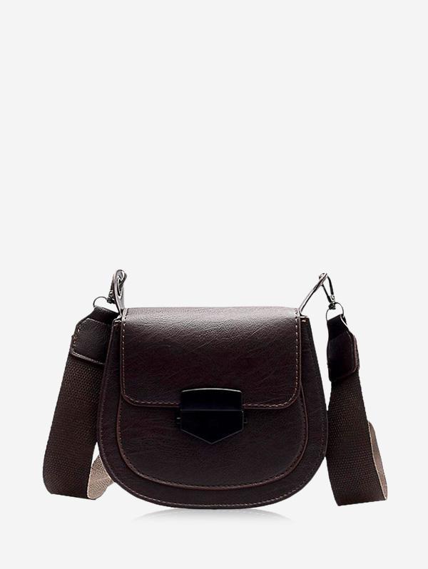PU Retro Wide Buckle Cross Body Bag