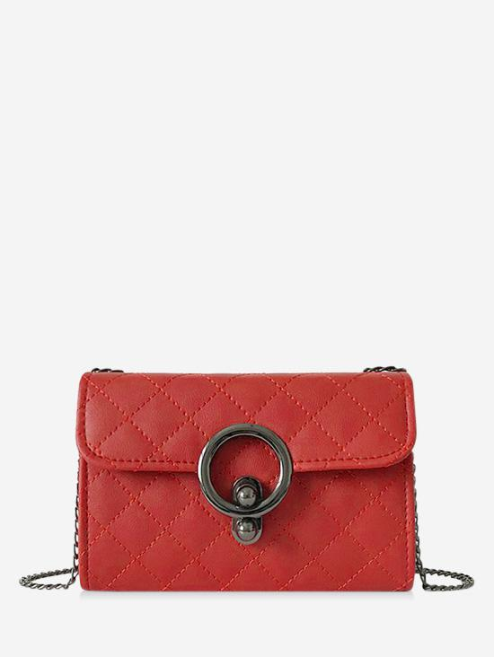 Circle Hasp Chain Quilted Bag