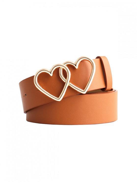 Cinturon Doble Hebilla de Corazón - Tigre Anaranjado