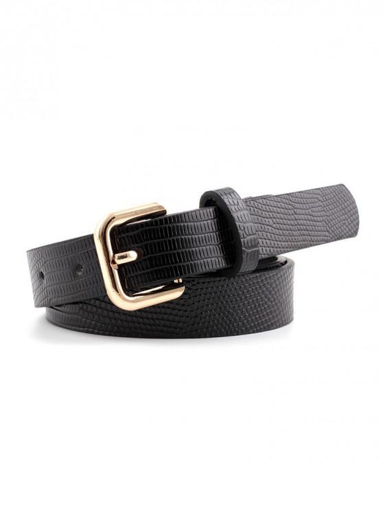 Cinturón Cuadrado de Hebilla con Textura - Oro