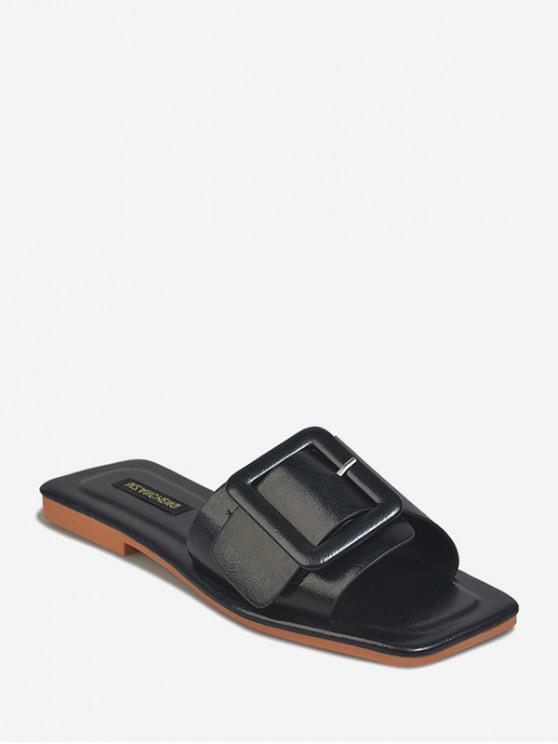 Zapatos Planos de Inserción de Hebilla Al Aire Libre - Negro EU 40