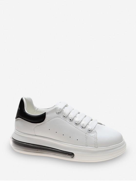 Zapato Tenis Casuales de PU de Dos Tonos - Negro EU 39