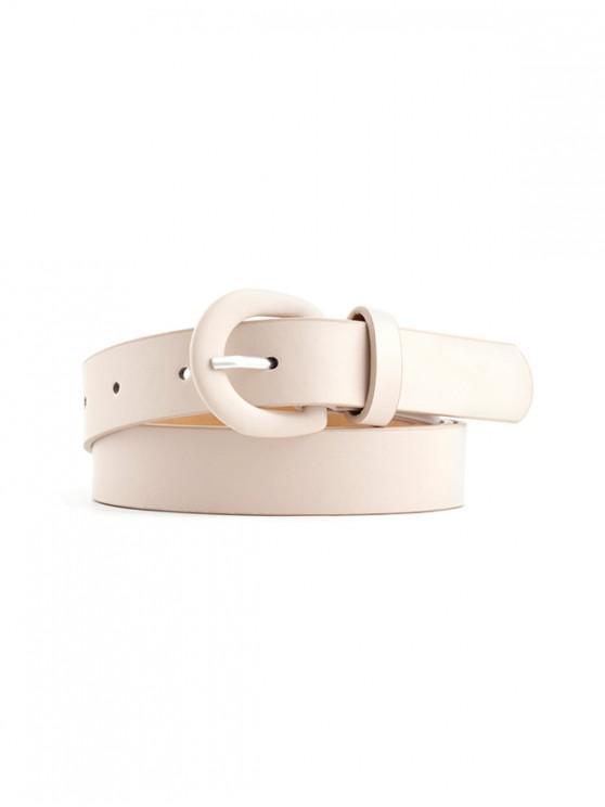 Cinturón de Hebilla Casual Cuero PU - Blanco Cálido