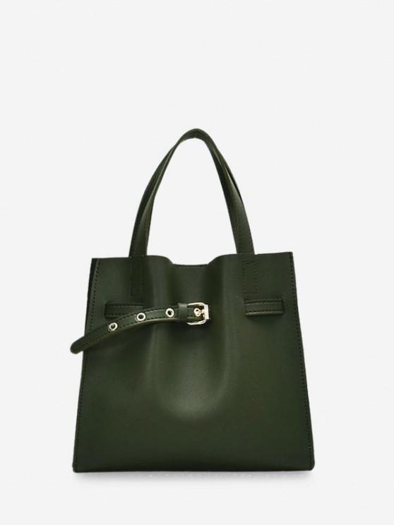 حقيبة مشبك مزين ساحة الكتف مجموعة - أخضر