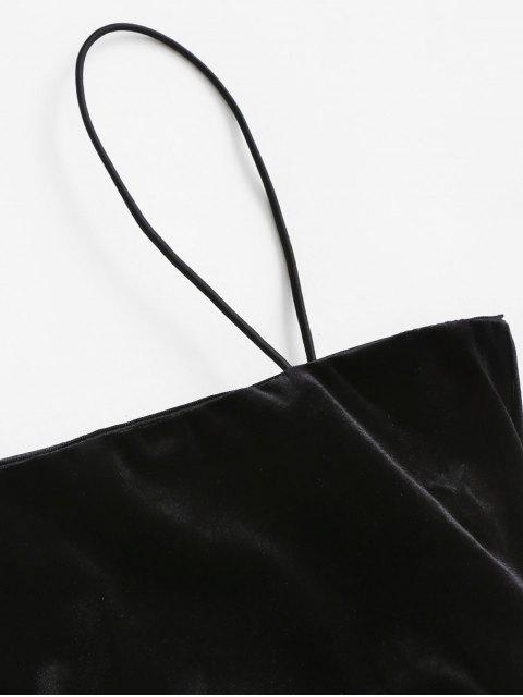 Haut à Bretelle Découpé avec Zip Au Dos en Velours - Noir M Mobile