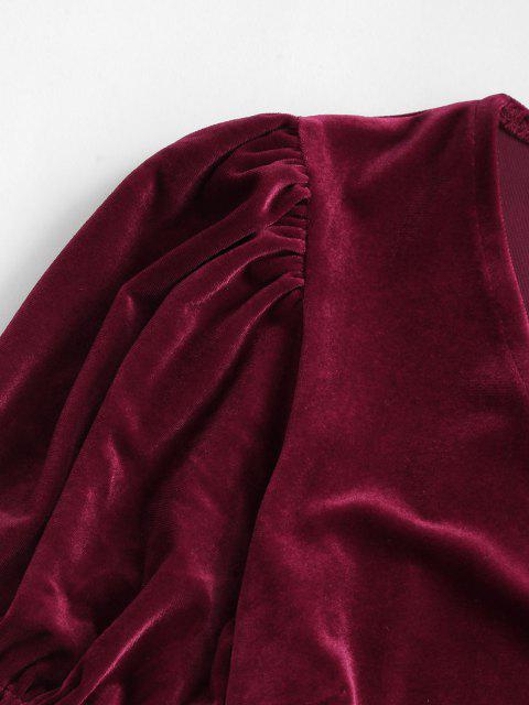 Mini Vestito in Velluto - Vino Rosso L Mobile