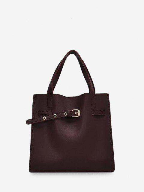 حقيبة مشبك مزين ساحة الكتف مجموعة - باهت الأرجواني  Mobile