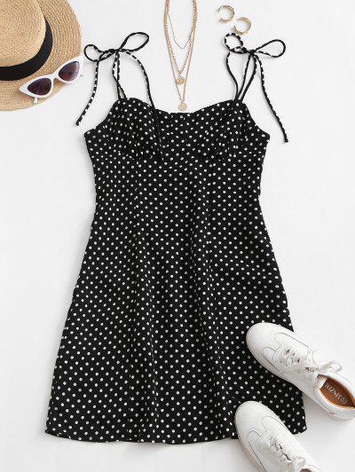 Mini Vestido De Ombros Frios - Preto S
