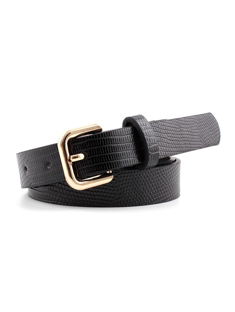 Square Pin Buckle Textured Belt