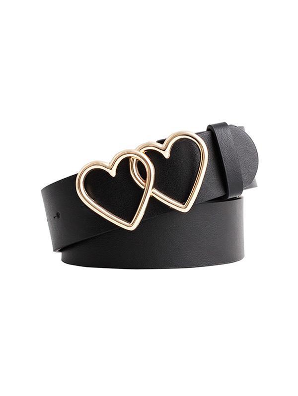 Hollow Double Heart Buckle Belt