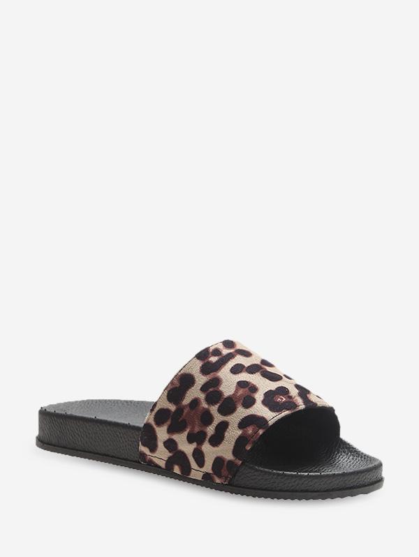 Leopard Print Outdoor Flat Slides