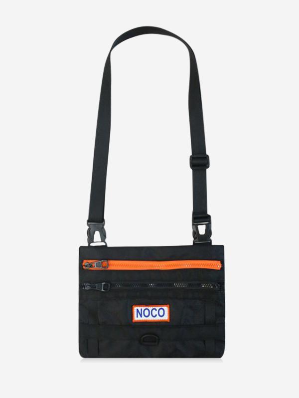 Casual Colorblock Letter Crossbody Bag