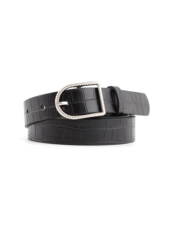 Textured Twist Buckle Belt