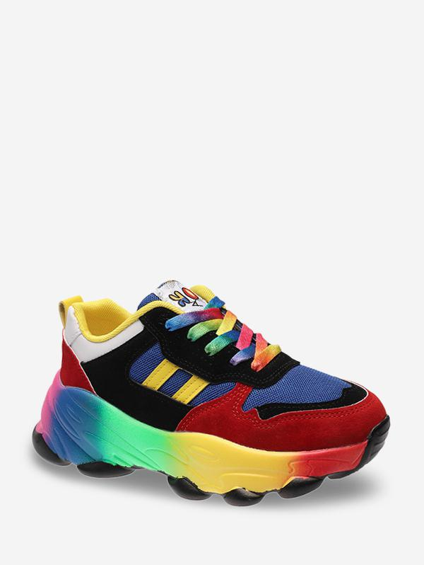 Colorful Breathable Mesh Platform Sneakers thumbnail