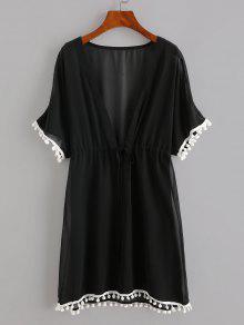 Pompoms Chiffon Beach Dress