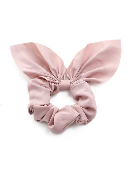outfit Solid Rabbit Ear Fabric Scrunchy - PINK