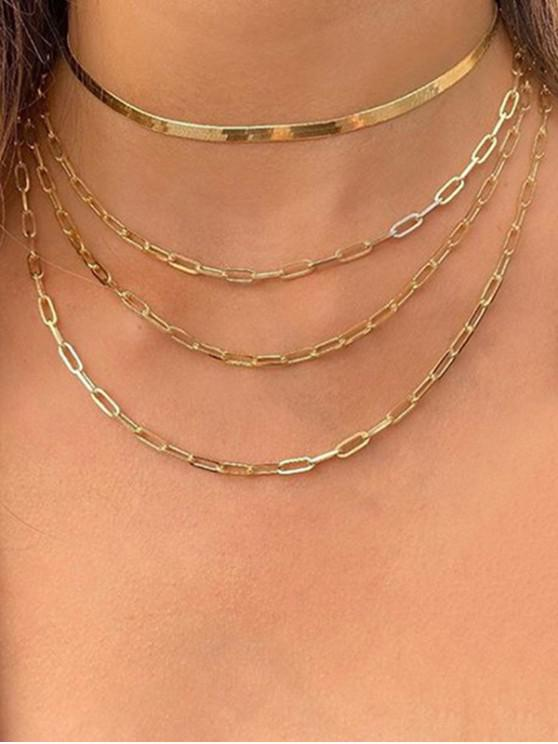 Collar de Cadena de Steampunk para Arriba - Oro