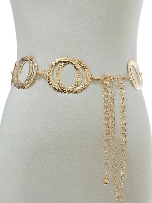 Twist Circles Hollow Waist Chain thumbnail