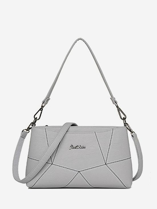 Geo PU Leather Crossbody Bag