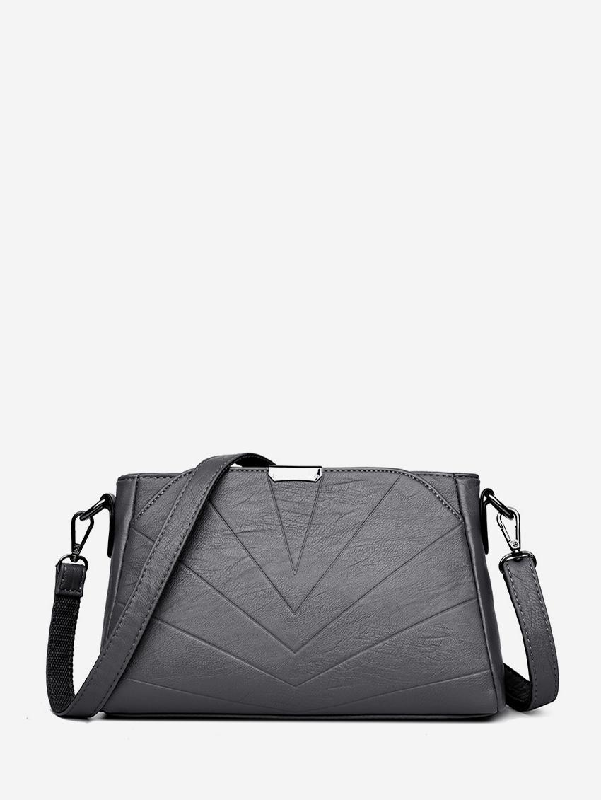 Chevron PU Leather Crossbody Bag
