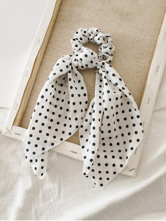 37% OFF] [NEW] 2020 Dots Print Ribbon Hair Tie In WHITE | ZAFUL