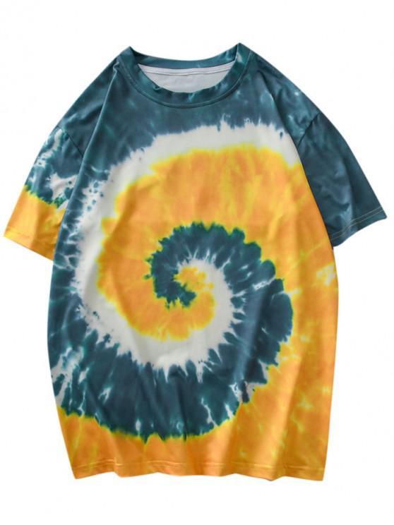 buy Tie Dye Short Sleeves Tee - RUBBER DUCKY YELLOW XL