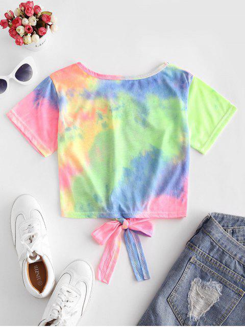 T-shirtTeintéColoré à Ourlet Noué - Multi-A M Mobile