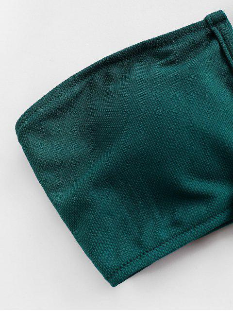 Bikini Top a Fascia Annodato di ZAFUL - Verde M Mobile