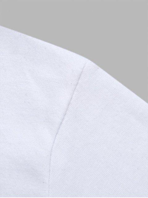 unique Letters Print Casual Slogan T-shirt - WHITE XL Mobile