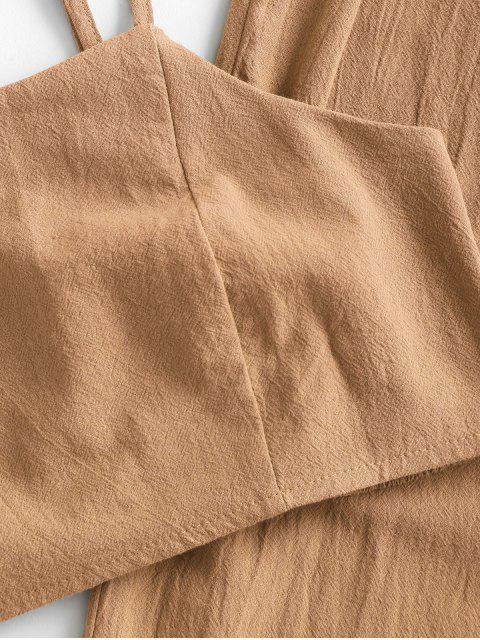 ZAFUL Zugeschnittes Gurt Papiertüte Jogger Hose Set - Orange Gold L Mobile