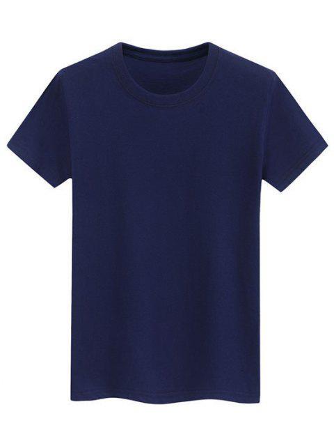 Camiseta Llana de Mangas Cortas - Azul M Mobile