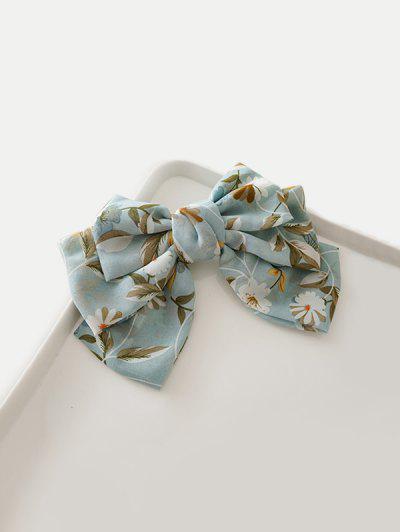 Bowknot Floral Printed Hair Clip