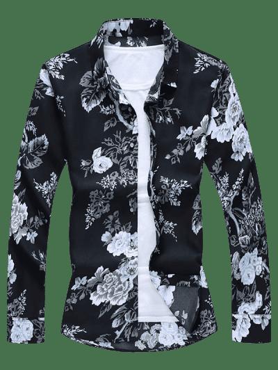 Flower Print Button Up Shirt