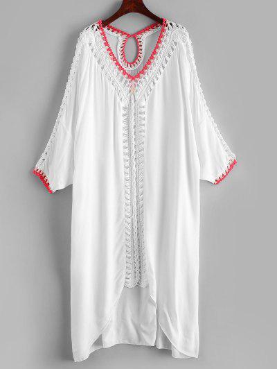 Crochet Panel Beach Cover Up Dress