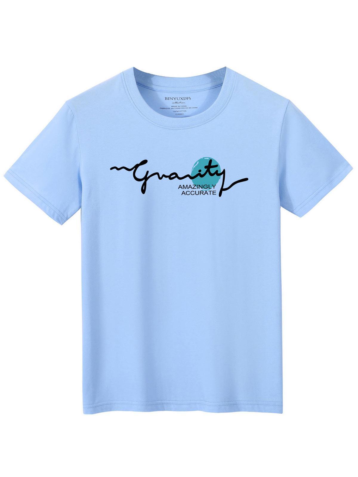 T-shirt Lettre Graphique Imprimé à Manches Courtes - ZAFUL - Modalova