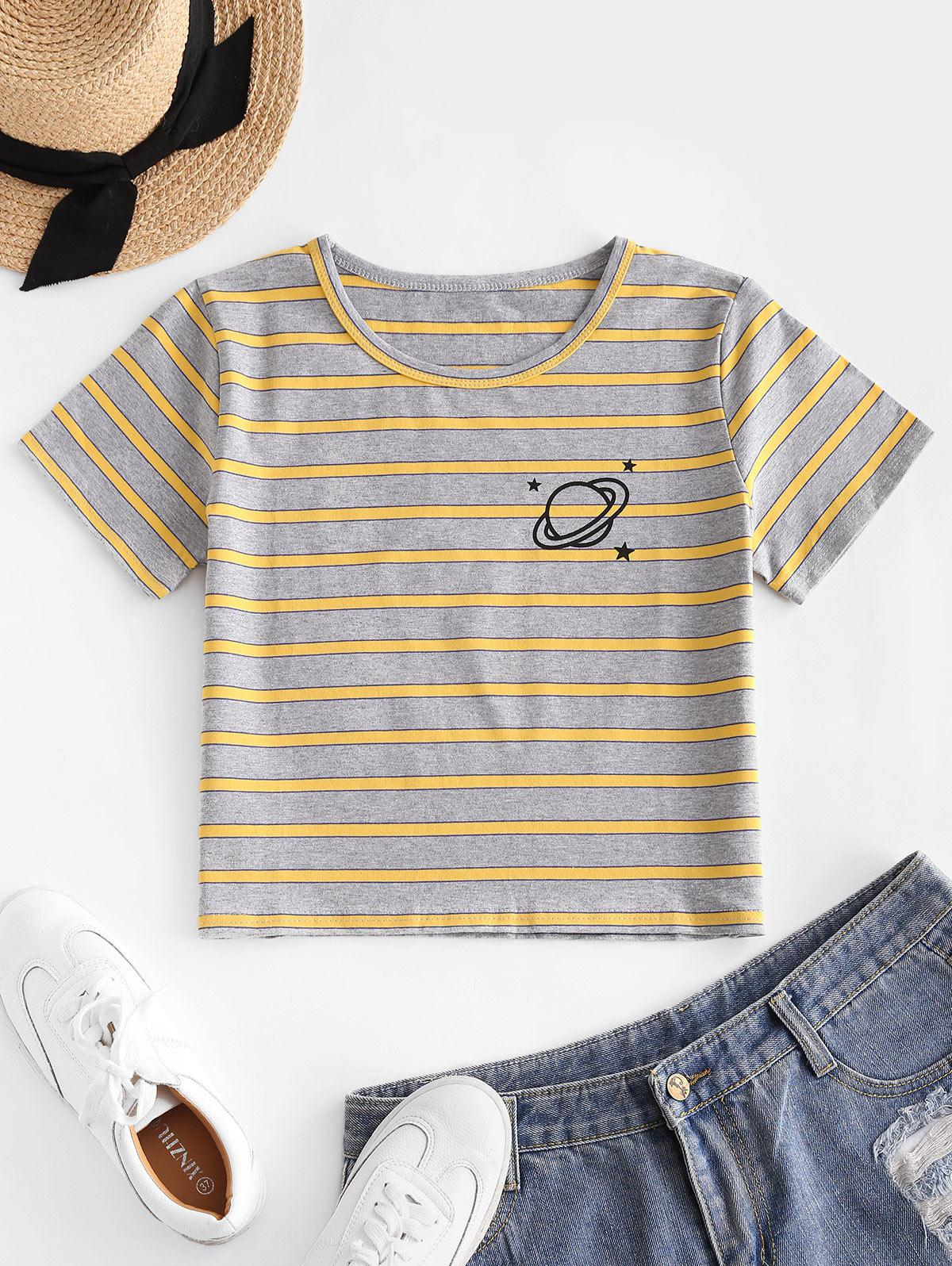Stripes Planet Star Graphic Tee
