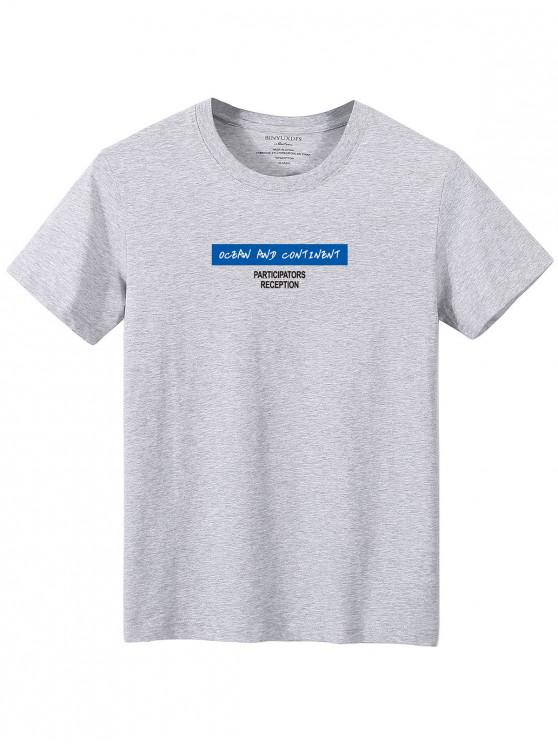 Camiseta camo de manga comprida estampa geometrica - Cinzento XL