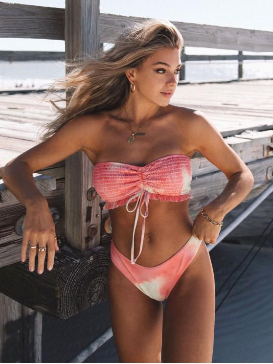 Costume da Bagno Bikini di Tie-Dye Marmorizzato con La Parte Superiore di ZAFUL - Multi Colori-A S