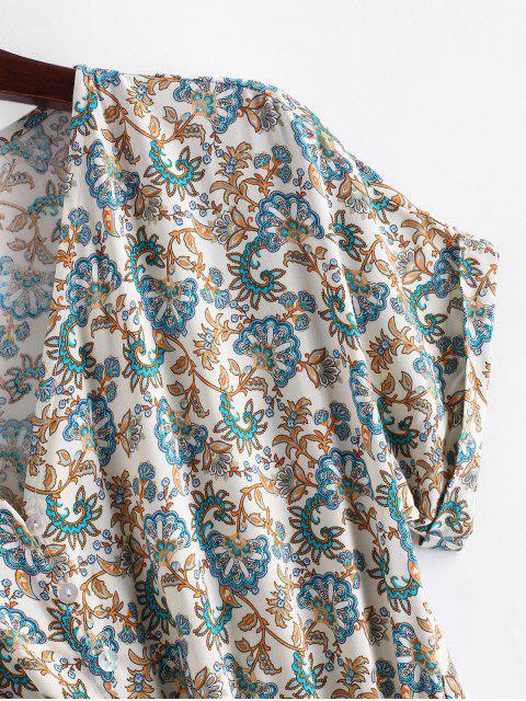 Mono Corto con Estampado de Bohemia con Cordones - Multicolor-A L Mobile