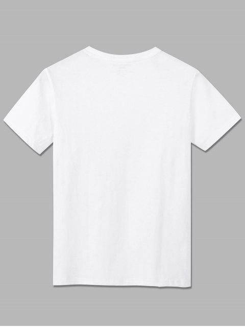الأساسية مغامرة مدينة الجرافيك T قميص - أبيض XL Mobile