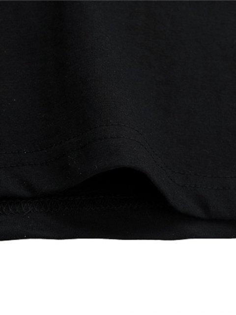 Camisola Básico de Lobo Gráfico Animal - Preto M Mobile