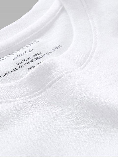 Camiseta camo de manga comprida estampa geometrica - Branco L Mobile