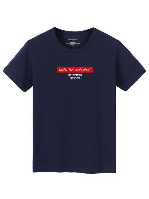 Camiseta camo de manga comprida estampa geometrica - Cadetblue XL Mobile